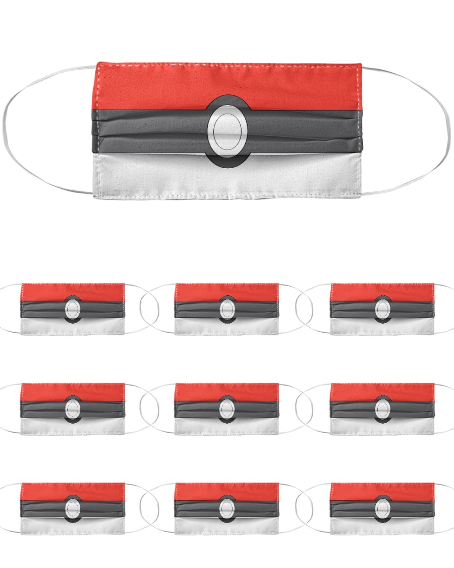 Pokeball Cloth Face Mask - 10 Pack
