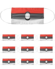 Pokeball Cloth Face Mask - 10 Pack front