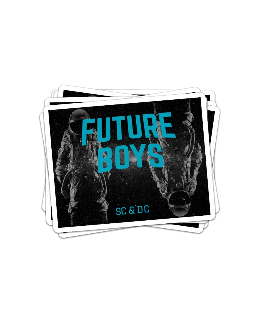 Future Boys Lost In Space Stickers Sticker - 6 pack (Horizontal)