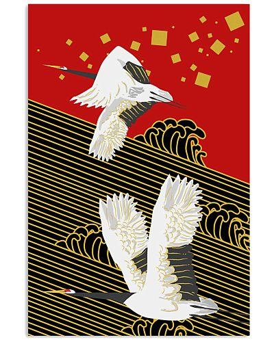 Original Japanese Crane Poster