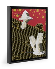 Original Japanese Crane Poster 11x14 Black Floating Framed Canvas Prints thumbnail