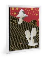 Original Japanese Crane Poster 11x14 White Floating Framed Canvas Prints thumbnail