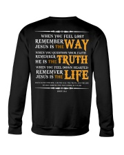 Jesus is the way the truth and the life Crewneck Sweatshirt thumbnail