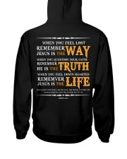 Jesus is the way the truth and the life Hooded Sweatshirt back