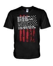 Guns V-Neck T-Shirt thumbnail