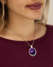 Limited Edition - Hurry Up Metallic Circle Necklace aos-necklace-circle-metallic-lifestyle-1