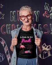 Pumpkin Flamingo T Shirt Ladies T-Shirt lifestyle-holiday-crewneck-front-3