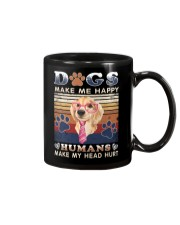 Dogs Make Me Happy Vintage Mug thumbnail