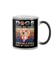 Dogs Make Me Happy Vintage Color Changing Mug thumbnail