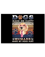 Dogs Make Me Happy Vintage 17x11 Poster thumbnail