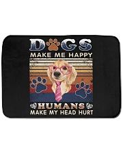 """Dogs Make Me Happy Vintage Bath Mat - 24"""" x 17"""" thumbnail"""