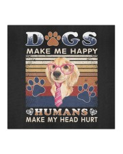 Dogs Make Me Happy Vintage Cloth face mask aos-face-mask-coverlet-lifestyle-front-02