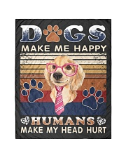 "Dogs Make Me Happy Vintage Quilt 40""x50"" - Baby thumbnail"