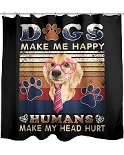 Dogs Make Me Happy Vintage Shower Curtain thumbnail