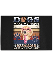 Dogs Make Me Happy Vintage Rectangle Cutting Board thumbnail