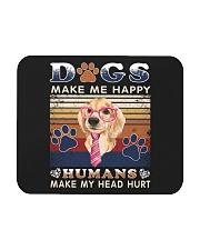 Dogs Make Me Happy Vintage Mousepad thumbnail