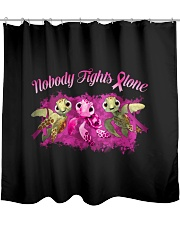 Nobody Fights Alone Shower Curtain thumbnail