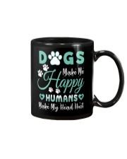 Dogs Make Me Happy Mug tile