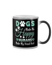 Dogs Make Me Happy Color Changing Mug tile