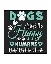 Dogs Make Me Happy Square Coaster tile