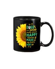 Dogs And Sunflower Make Me Happy Mug thumbnail