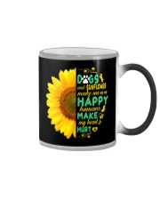 Dogs And Sunflower Make Me Happy Color Changing Mug thumbnail