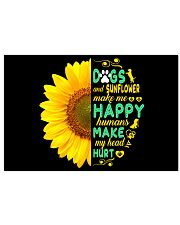 Dogs And Sunflower Make Me Happy 17x11 Poster thumbnail