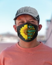 Dogs And Sunflower Make Me Happy Cloth face mask aos-face-mask-lifestyle-06