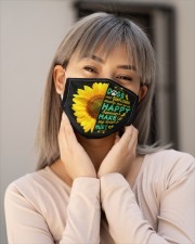 Dogs And Sunflower Make Me Happy Cloth face mask aos-face-mask-lifestyle-17