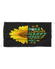Dogs And Sunflower Make Me Happy Cloth face mask front