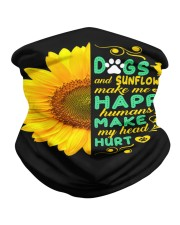 Dogs And Sunflower Make Me Happy Neck Gaiter thumbnail
