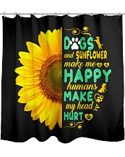Dogs And Sunflower Make Me Happy Shower Curtain thumbnail