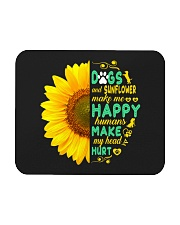 Dogs And Sunflower Make Me Happy Mousepad thumbnail