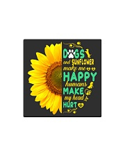 Dogs And Sunflower Make Me Happy Square Magnet thumbnail
