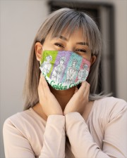 The Golden Girl Moment Cloth face mask aos-face-mask-lifestyle-17