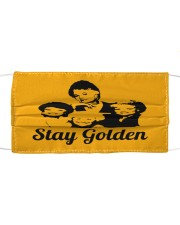 Stay Golden Cloth face mask front