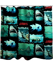 Jaws Fabric Shower Curtain tile