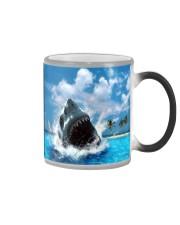 jaws shark Color Changing Mug tile