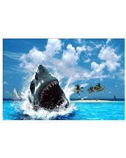 jaws shark Horizontal Poster tile