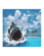 jaws shark Cloth face mask aos-face-mask-coverlet-lifestyle-front-02