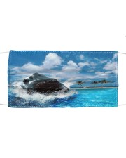 jaws shark Cloth face mask front