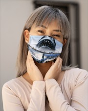 Jaws Shark Moment Cloth face mask aos-face-mask-lifestyle-17