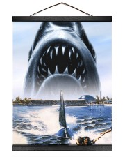 Jaws Shark Moment 16x20 Black Hanging Canvas thumbnail
