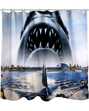 Jaws Shark Moment Shower Curtain thumbnail