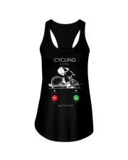 cycling is calling 2163476 Ladies Flowy Tank thumbnail