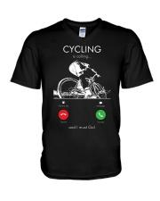 cycling is calling 2163476 V-Neck T-Shirt thumbnail