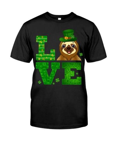 Love Sloth St Patricks Day