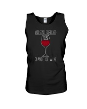100 Percent Chance of Wine Dark  Unisex Tank thumbnail