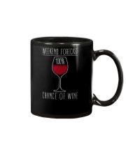 100 Percent Chance of Wine Dark  Mug thumbnail