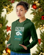 Father and Daughter Hooded Sweatshirt lifestyle-holiday-hoodie-front-4